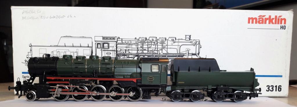VENDU- Locomotive Märklin 3316 - Type 25.004 SNCB Digitale ESU Mzirkl30
