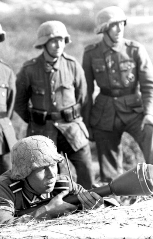 Casque allemand grillagé... Panzer10