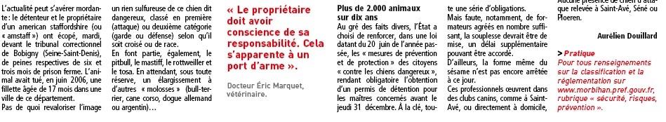 ARTICLE PERMIS CHIEN LE TELEGRAMME VANNES Screen13