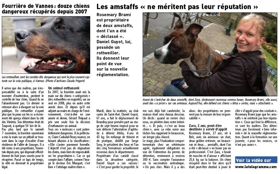 ARTICLE PERMIS CHIEN LE TELEGRAMME VANNES Screen14