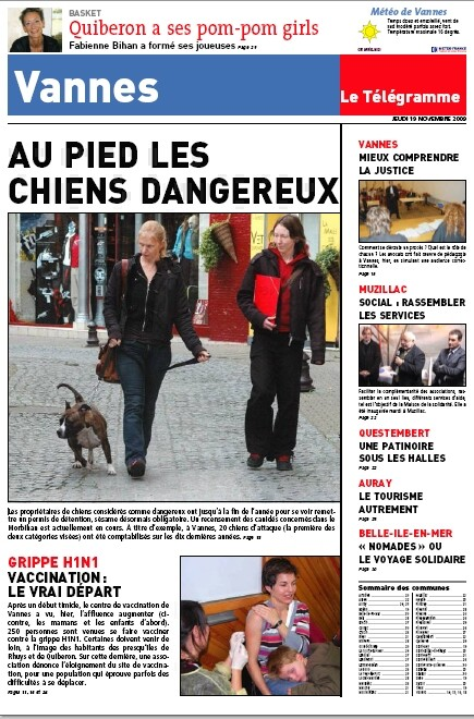 ARTICLE PERMIS CHIEN LE TELEGRAMME VANNES Screen15