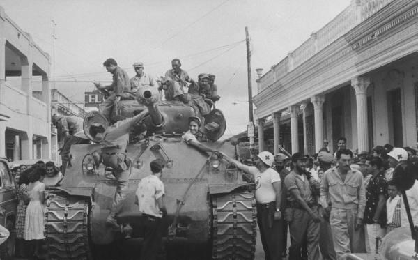 Así recibió el pueblo cubano a los rebeldes. Havana10
