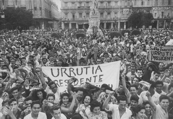 Así recibió el pueblo cubano a los rebeldes. Havana11