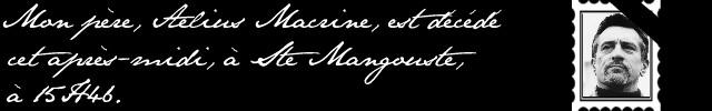 Licinius Macrine Lettre15