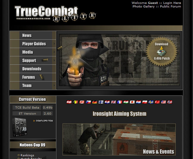 Official Website Changed Now http://www.truecombatelite.com/ Tcehom10