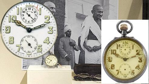 La montre ZENITH de Gandhi vendue aux enchères par Antiquorum Montre10
