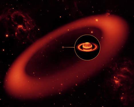 """Découverte du """"seigneur des anneaux"""" du système solaire autour de Saturne Media131"""