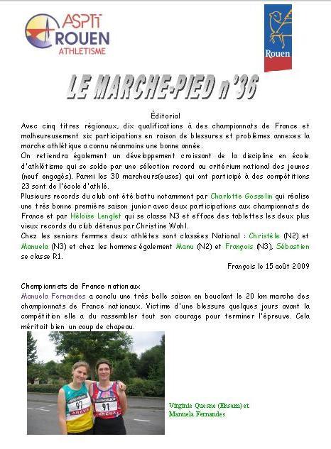 bilan 2009 et journal dU CLUB DE ROUEN Roue_e10