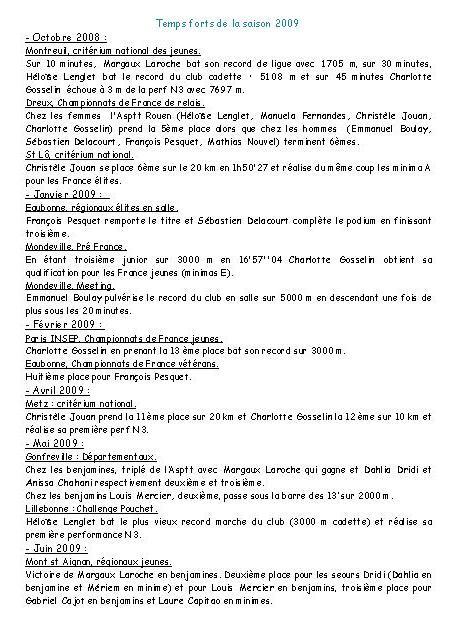 bilan 2009 et journal dU CLUB DE ROUEN Roue_e11