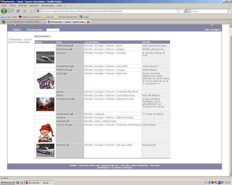 La carte officielle des membres du Forum 405 Mi 16 Mappem10