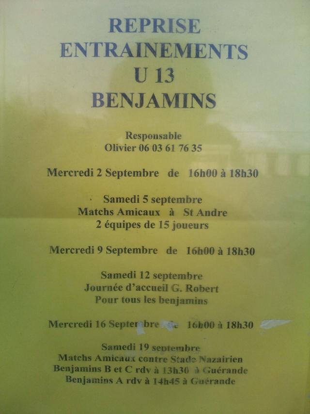 Reprise des entrainements U13 - Benjamins Photo019