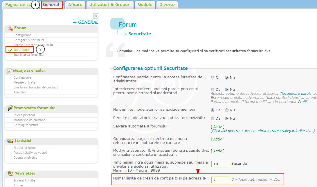 Crearea unui numar limitat de conturi noi, pe zi si pe IP Ip_ban16
