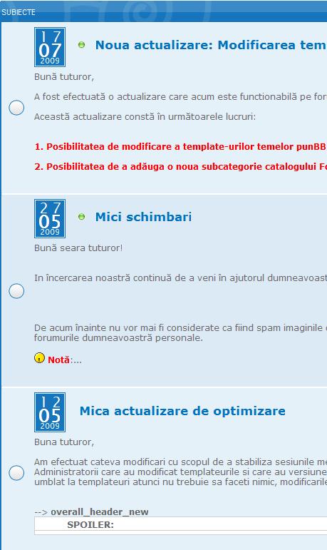 Noua actualizare + Cum puteti transforma un forum in blog Prima_10