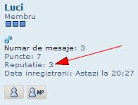 "Sistem de reputatie + butonul ""Mersi"" Reputa23"