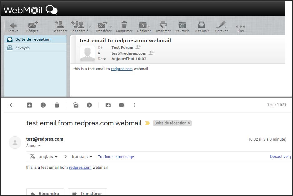 No están llegando los correos a Webmail 18-10-11