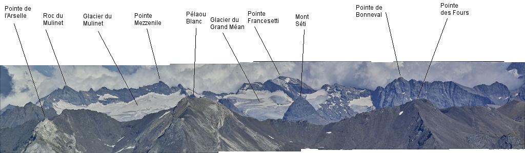 Les lacs de la Leisse et l'arête du Génépy Maurie11