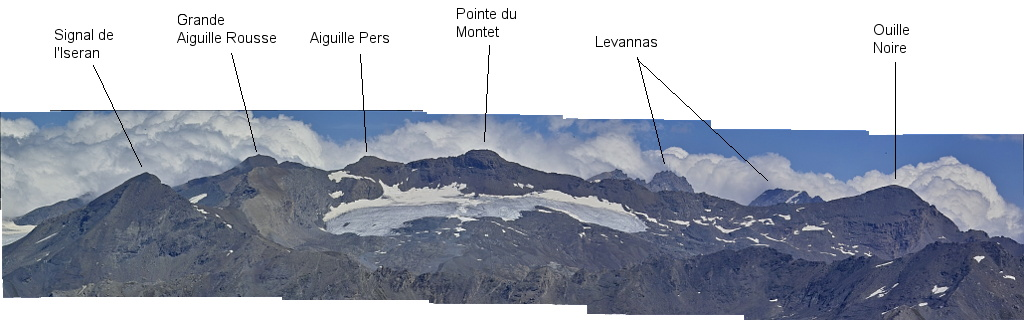 Les lacs de la Leisse et l'arête du Génépy Pisail10