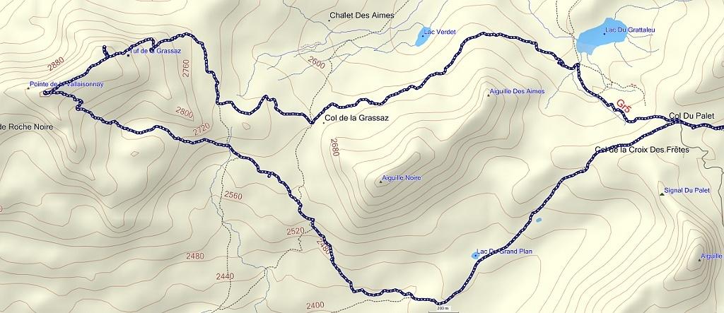 Col de la Grassaz, Pointe de la Vallaisonnay Trace10