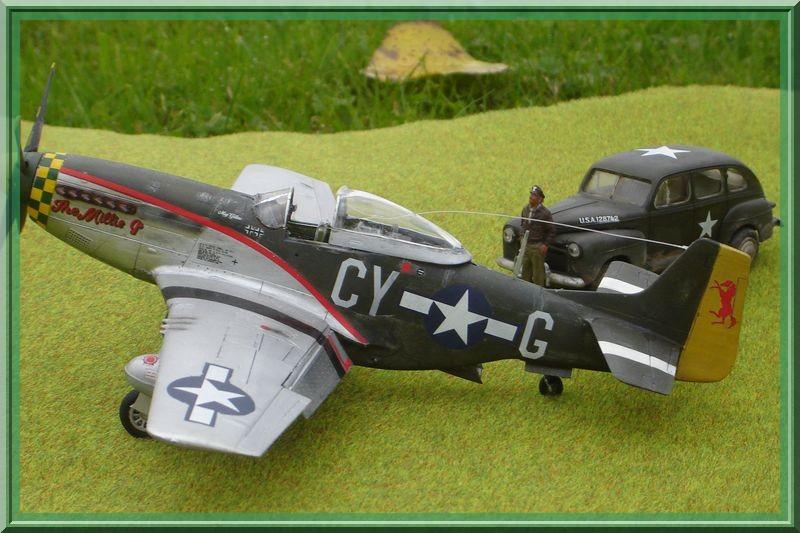 North American P-51 D Mustang & US Army Staff car (Tamiya 1/48°) [ TERMINÉ ] Dsc02633