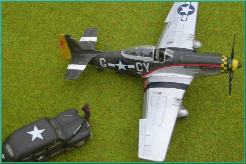 North American P-51 D Mustang & US Army Staff car (Tamiya 1/48°) [ TERMINÉ ] Dsc02634