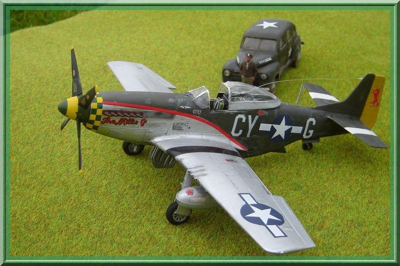 North American P-51 D Mustang & US Army Staff car (Tamiya 1/48°) [ TERMINÉ ] Dsc02635
