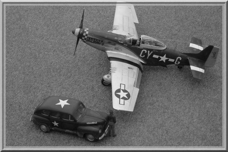 North American P-51 D Mustang & US Army Staff car (Tamiya 1/48°) [ TERMINÉ ] Dsc02639
