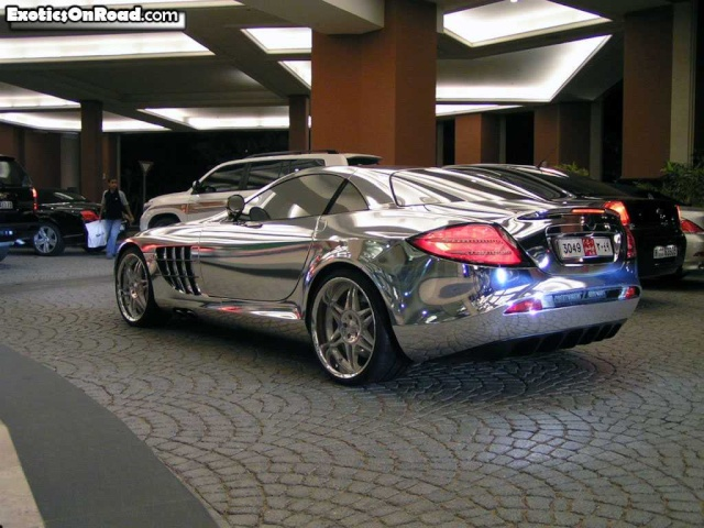 Mercedes Benz made of pure silver Merced12