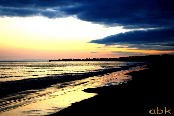 Bord de mer au soleil couchant ( Bretagne ) Coucha10