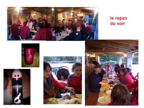 Compte-rendus Rencontre V2 en Ardèche 2013 Repas10