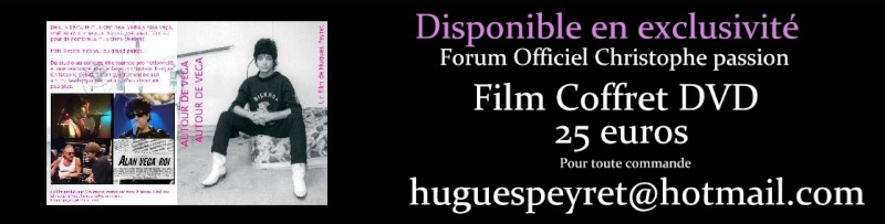"""Film Coffret DVD """" Autour de Vega """"  la rencontre hallucinée entre Alan Vega et Christophe, se retrouvant autour d'un morceau et d'une partie de poker ayant déclenché le titre """" Rencontre à l'as Vega """"  Ddd10"""