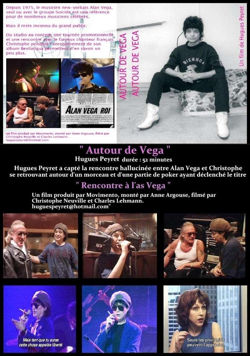 """Film Coffret DVD """" Autour de Vega """"  la rencontre hallucinée entre Alan Vega et Christophe, se retrouvant autour d'un morceau et d'une partie de poker ayant déclenché le titre """" Rencontre à l'as Vega """"  Docume11"""