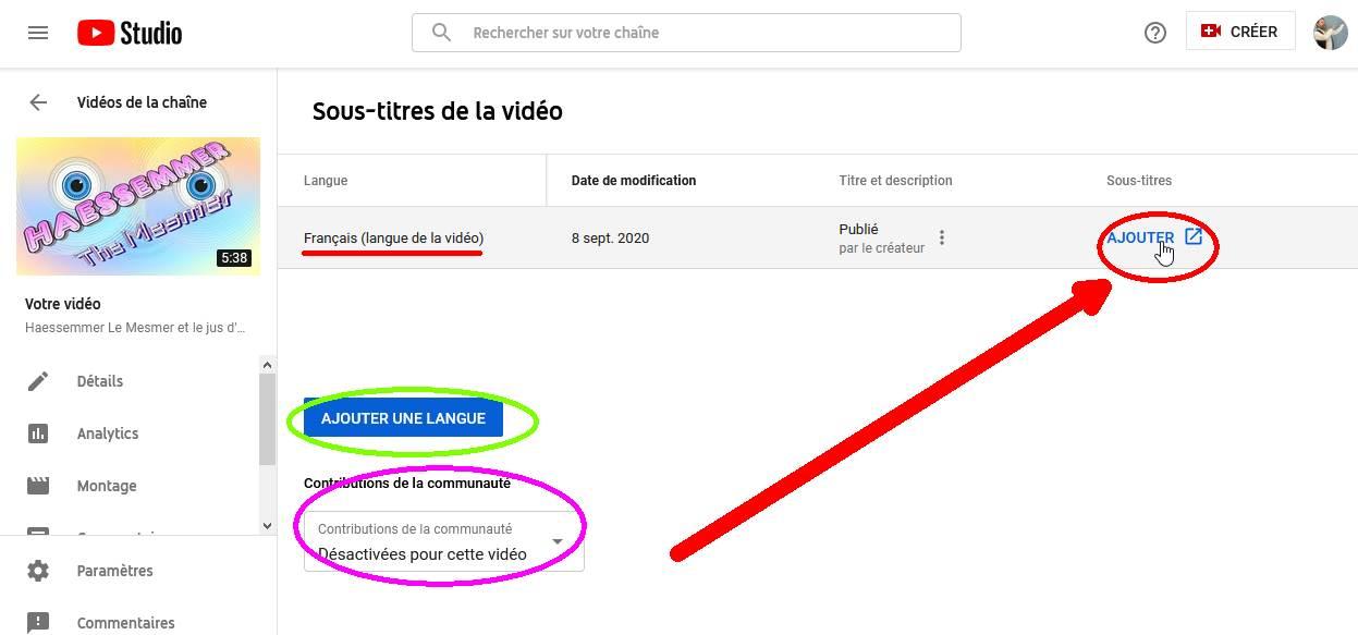 Les Sous-Titres sur YouTube 05ajou10