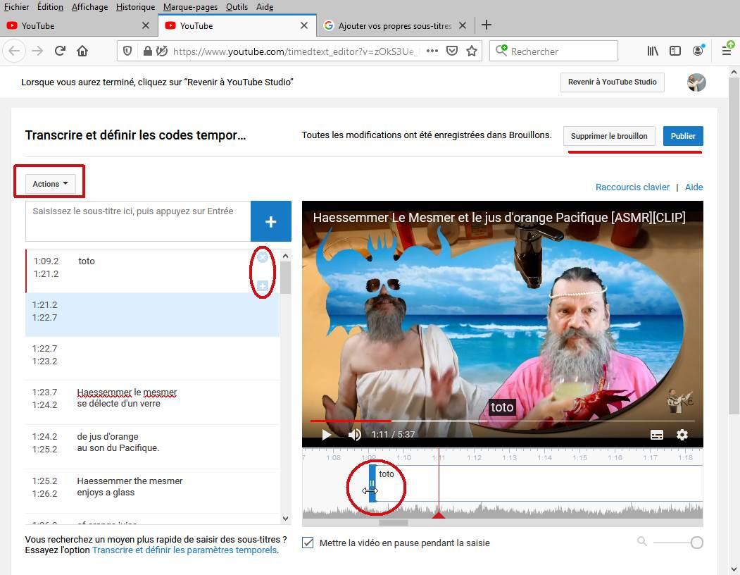 Les Sous-Titres sur YouTube 11edit10