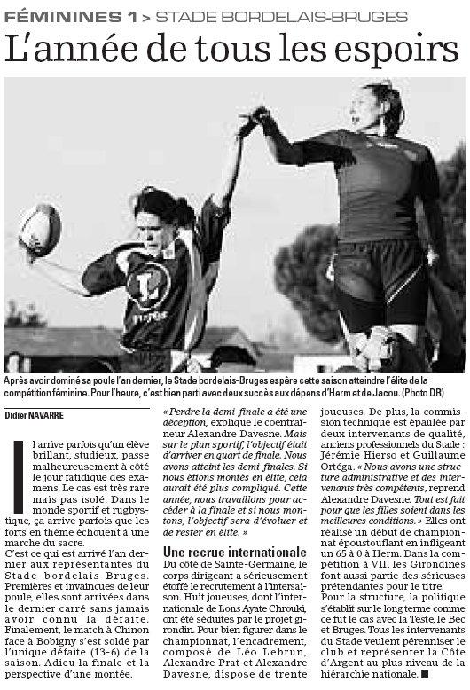 La saison 2009/2010 des Lionnes Stadeb10