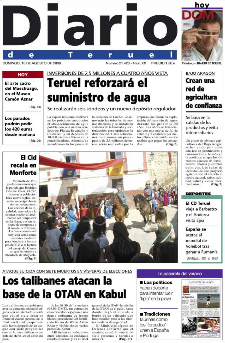Monforte de Moyuela -LLEGADA DEL CID-- Diario10