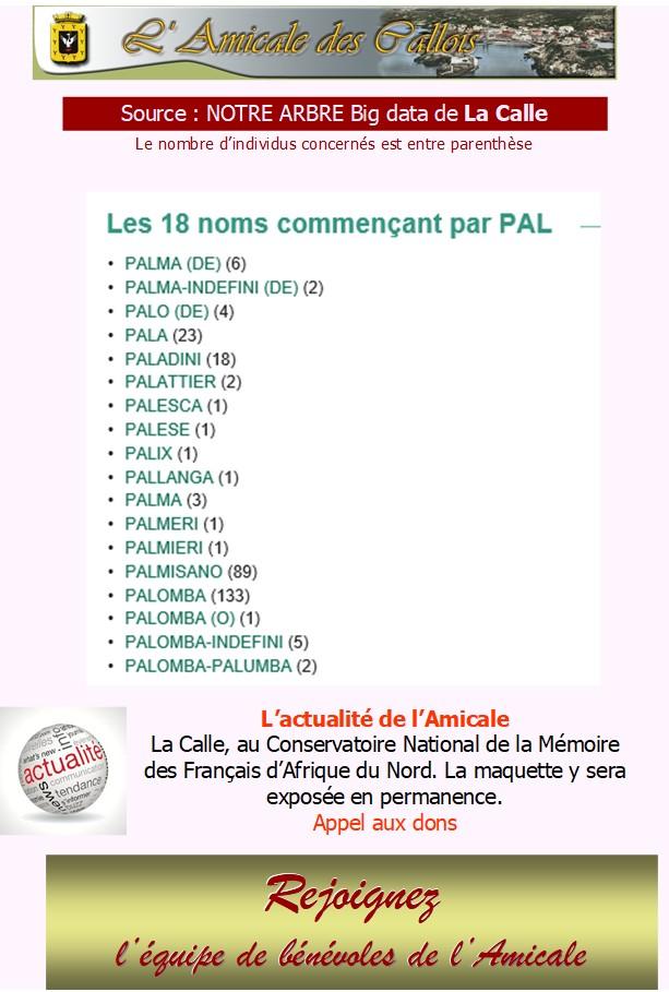 Les patronymes en lien avec La Calle commençant par P Pal_co10