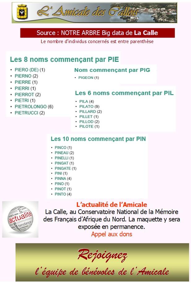 Les patronymes en lien avec La Calle commençant par P Pie-pi10