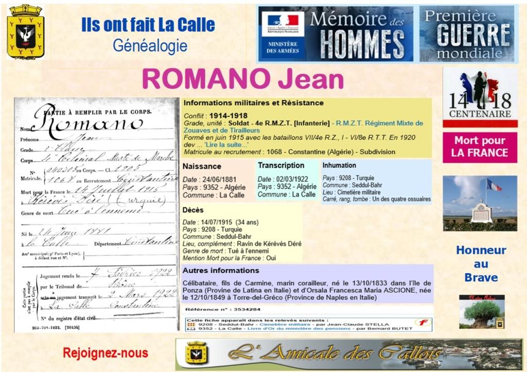 2018-un siecle après, on s'en souvient et Honneur à eux : Noms comment par R Romano11