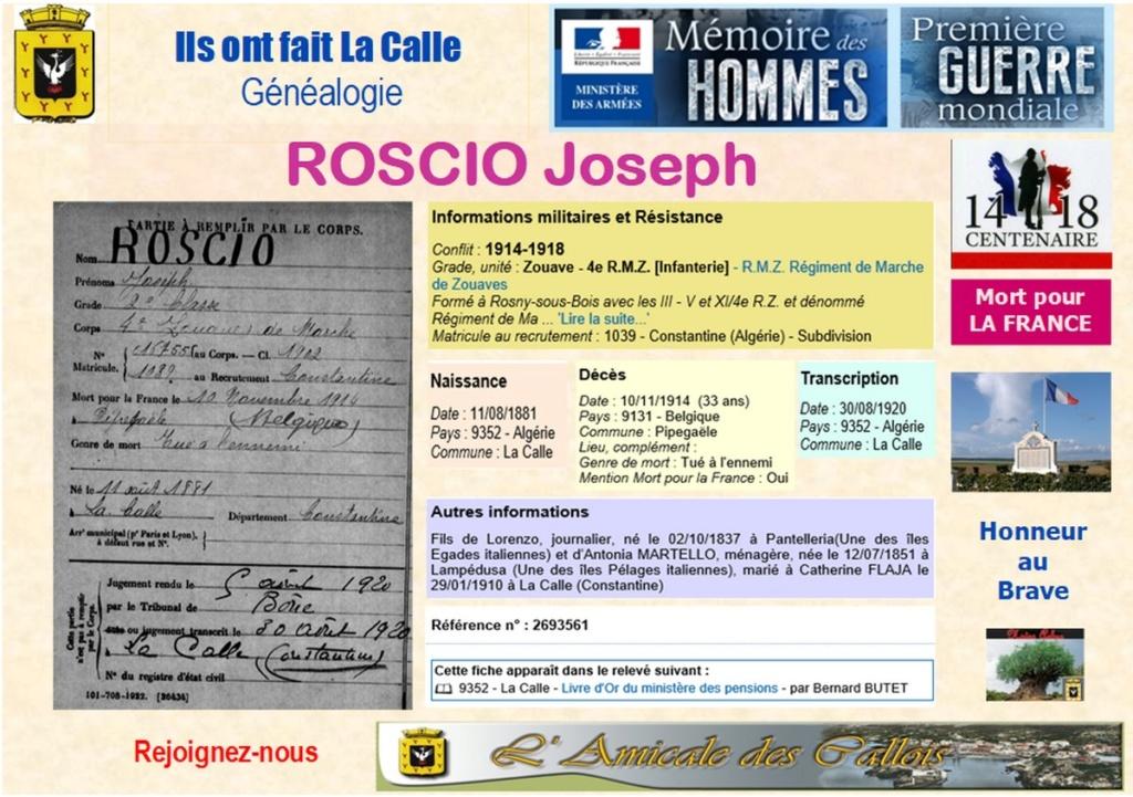 2018-un siecle après, on s'en souvient et Honneur à eux : Noms comment par R Roscio10
