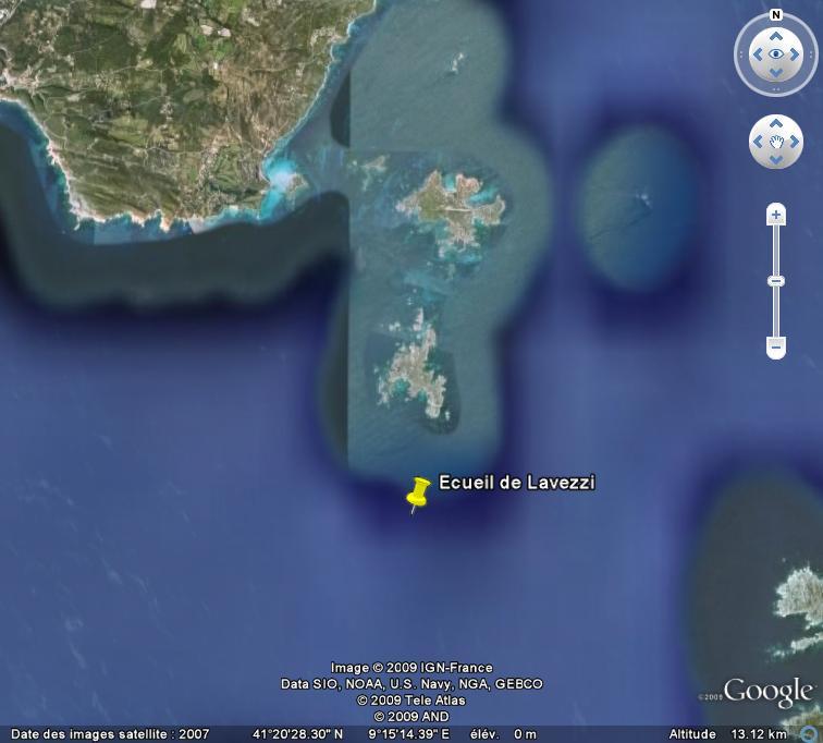 Marques et dangers nautiques, Corse et Sardaigne. Ecueil11