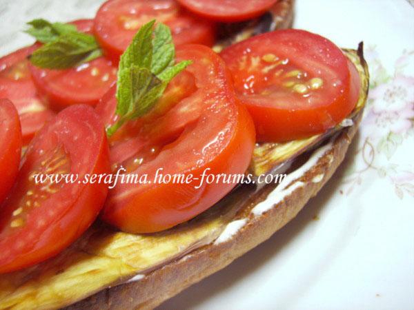 Бутерброд с запеченым баклажаном и свежими помидорами Imag0023