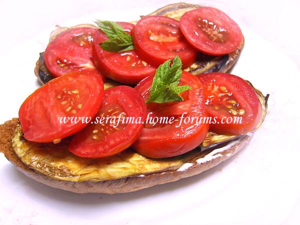 Бутерброд с запеченым баклажаном и свежими помидорами Imag0024