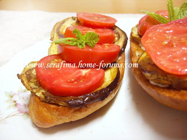 Бутерброд с запеченым баклажаном и свежими помидорами Imag0025