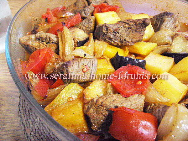 Саниет худар ма ляхма. Запеченые овощи с мясом. Арабская кухня Imag0537