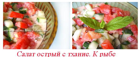 Салат острый с тхание к рыбе. Арабская кухня Salat-11