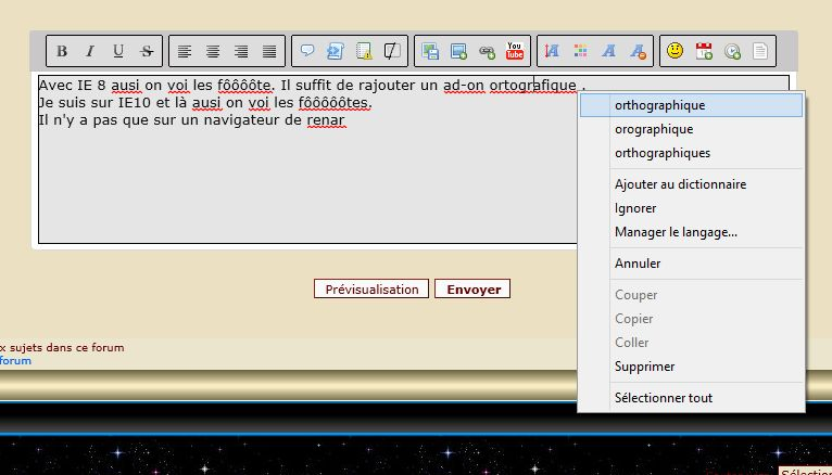 Le correcteur orthographique intégré : une autre raison d'utiliser FIREFOX Presse22