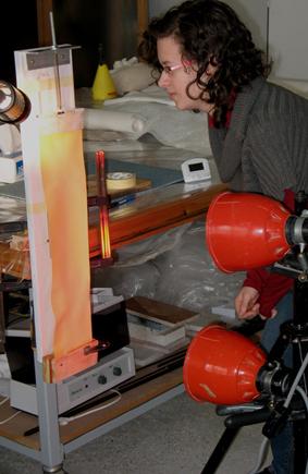 Tension au séchage de papiers de restauration . (allongement, Bulle, Bolloré, Kraft) Img_5915