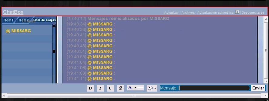 Imagenes y colores en el chatbox Ala10
