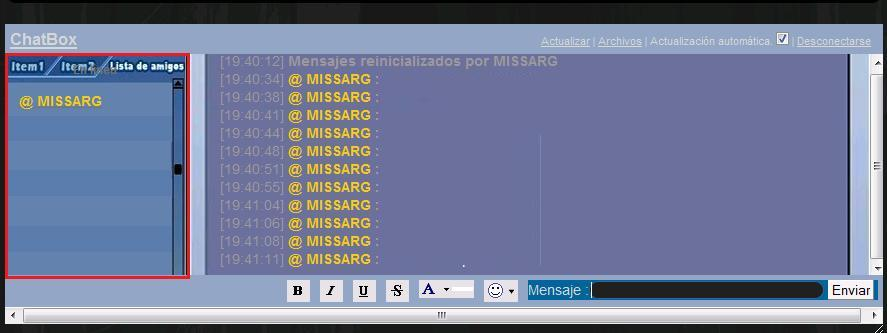 Imagenes y colores en el chatbox Ala11