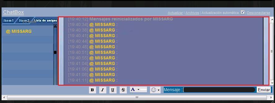 Imagenes y colores en el chatbox Ala12